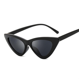 YOOSKE Triangle Small Size Frame Cat Eye Sunglasses Cool Women UV400 New Fashion Ocean Film Sun Glasses