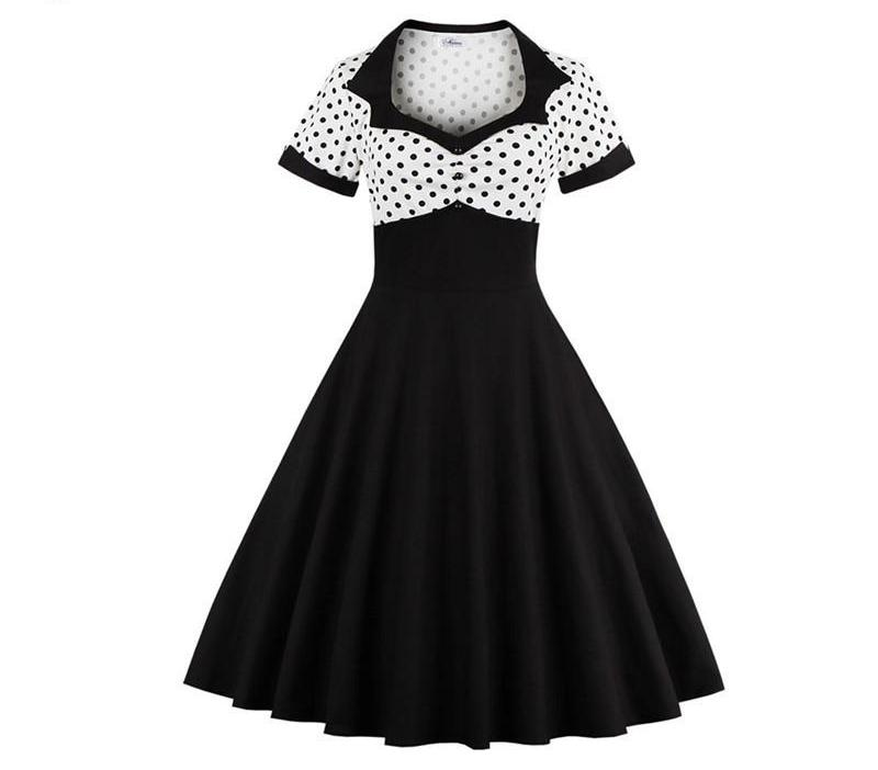 1960s Polka Dot Short Sleeve Summer Dress