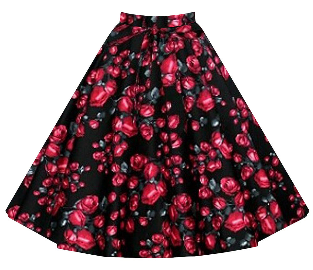1960s Retro Swing Rockabilly Skater Skirt