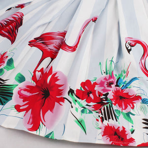 1960s Floral Pleated Skirt Elegant Rockabilly Skirt