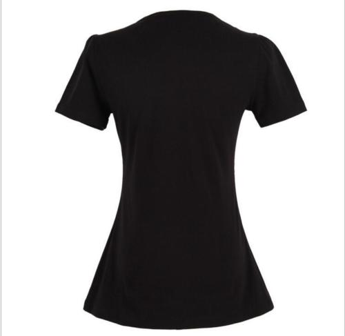 Black Vintage V-Neck Top