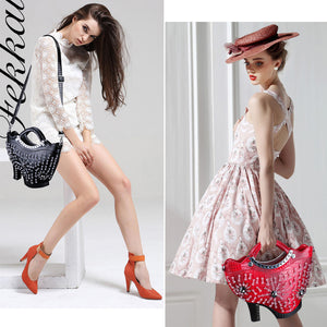 High Heeled Shoes Shape Leather Bag