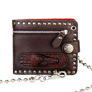 Punk Rock Alloy Chain Waller for Men