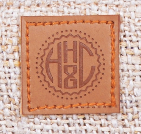 Logo HH&C symbol on Vegan Faux leather patch