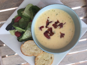Bacon Beer and Cheddar Soup