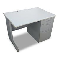Single Pedestal Desk- Steel