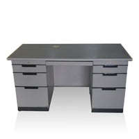 Uchida Double Pedestal Desk
