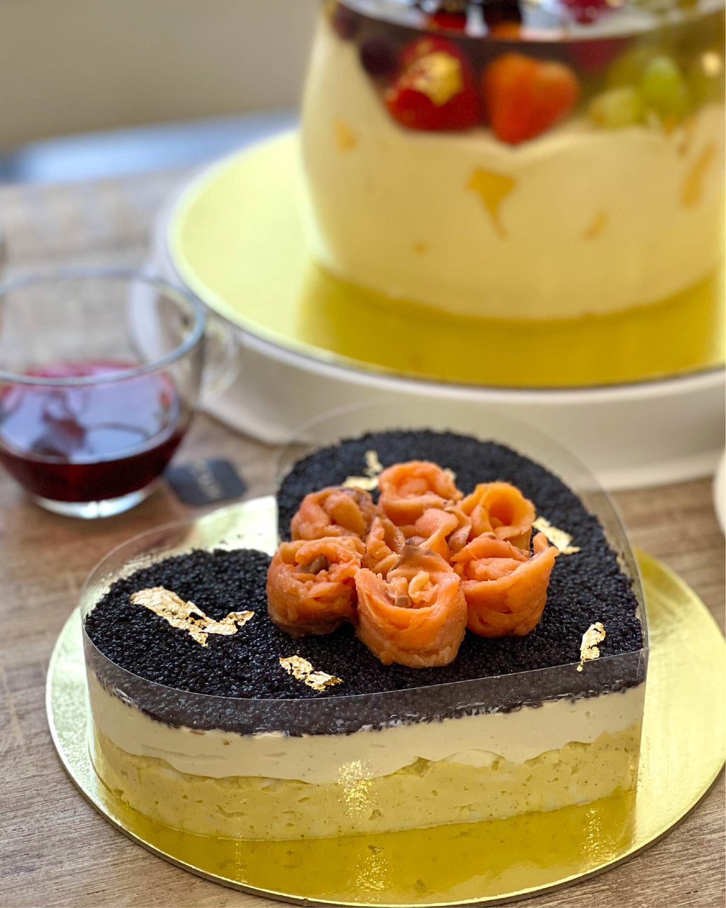 Heart Shape Caviar Pie