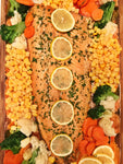 Baked Salmon with Veggies