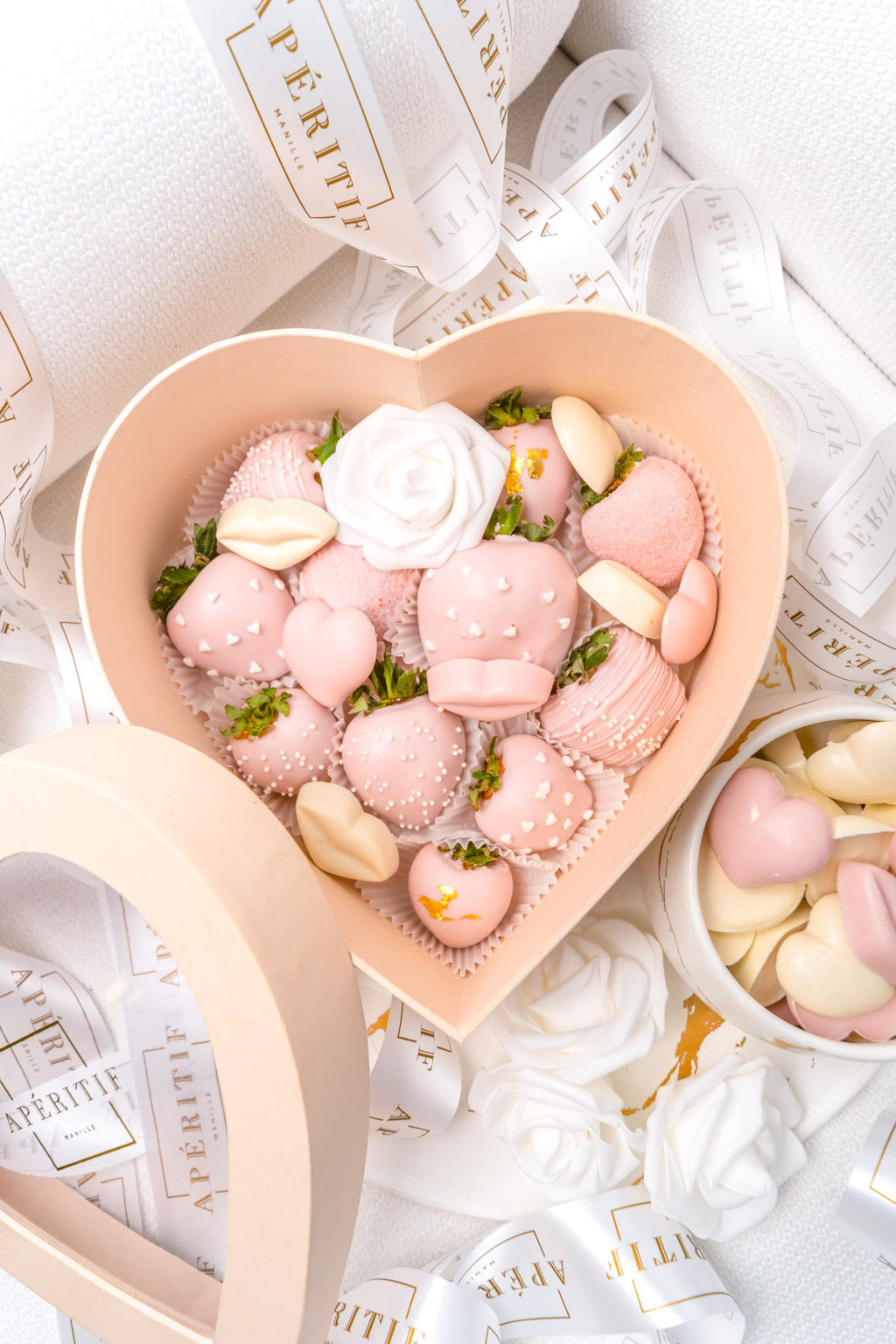 Designer Strawberry Heart Box