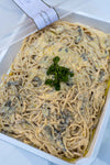 Truffle Pasta Tossed On Cheese Wheel - Aperitif Mains