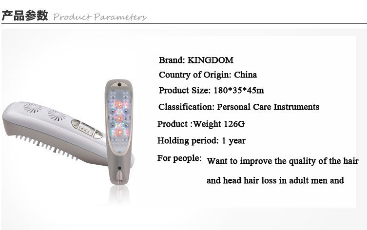 Ipl Laser Hair Comb for scalp Massage and hair regrowth