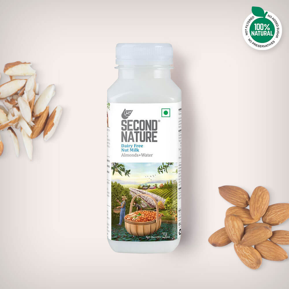 Almond + Water - Nut Milks - Second Nature