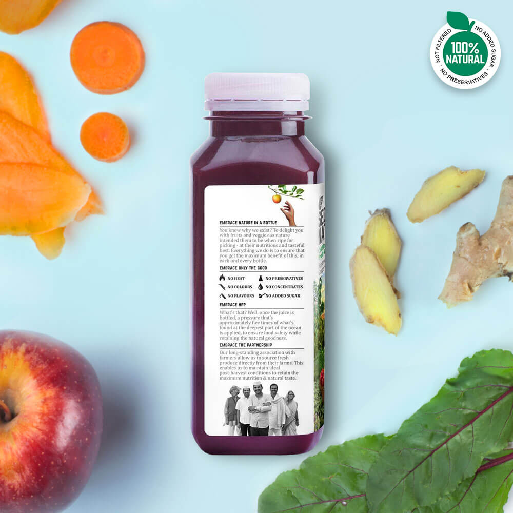 Beet + Carrot + Ginger + Apple - Fruit & Vegetable Juices - Second Nature
