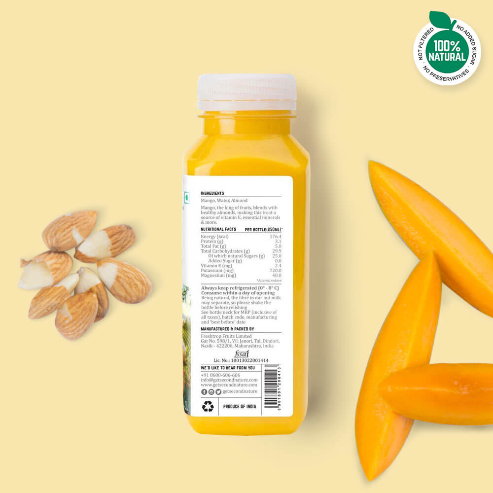 Mango + Almond - Nut Milks - Second Nature