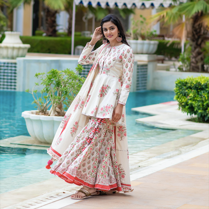Rose Garden Sharara Set