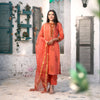 CORAL RED MARIGOLD COTTON SUIT