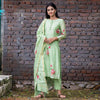 Pisteno Green Flora Hadpainted Suit