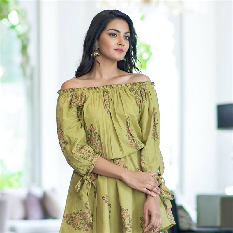 Off Shoulder Sharara Set