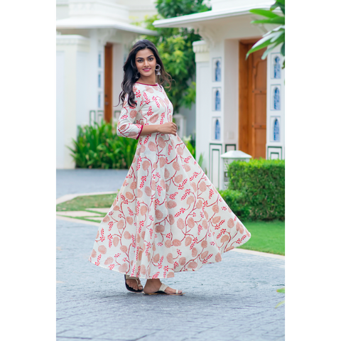 Ivory mystic Floral Dress
