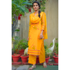Yellow Hand Painted Kota Doriya Suit Set