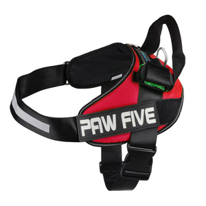 paw five core-1 harnesslava red angle 4