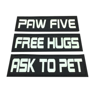 ASK TO PET Velcro Patch (Glow in the Dark)