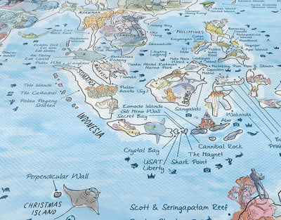 image of scuba diving spots world map