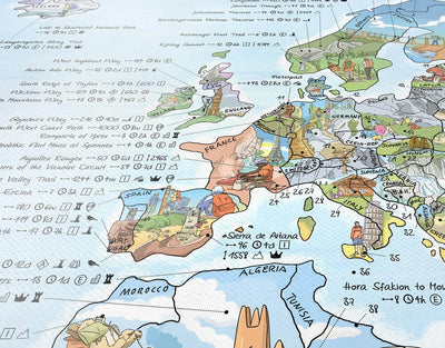 image of best walking trails europe map