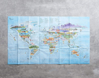 image of best kitesurf spots foldable world map