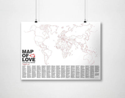 image of map of love wall art
