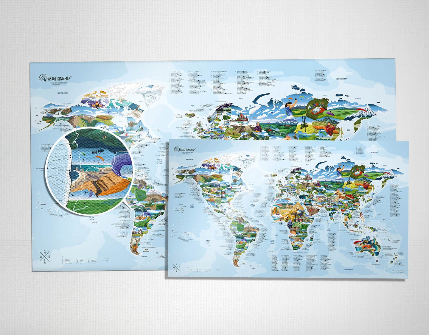 Picture of: Awesome Maps Illustrated World Map Posters Canvases