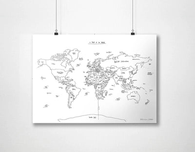 image of world map black and white