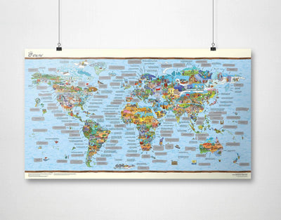 image of facts about the world map