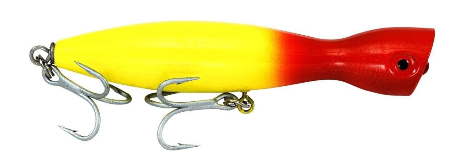 Super Strike Little Neck Popper Yellow red head
