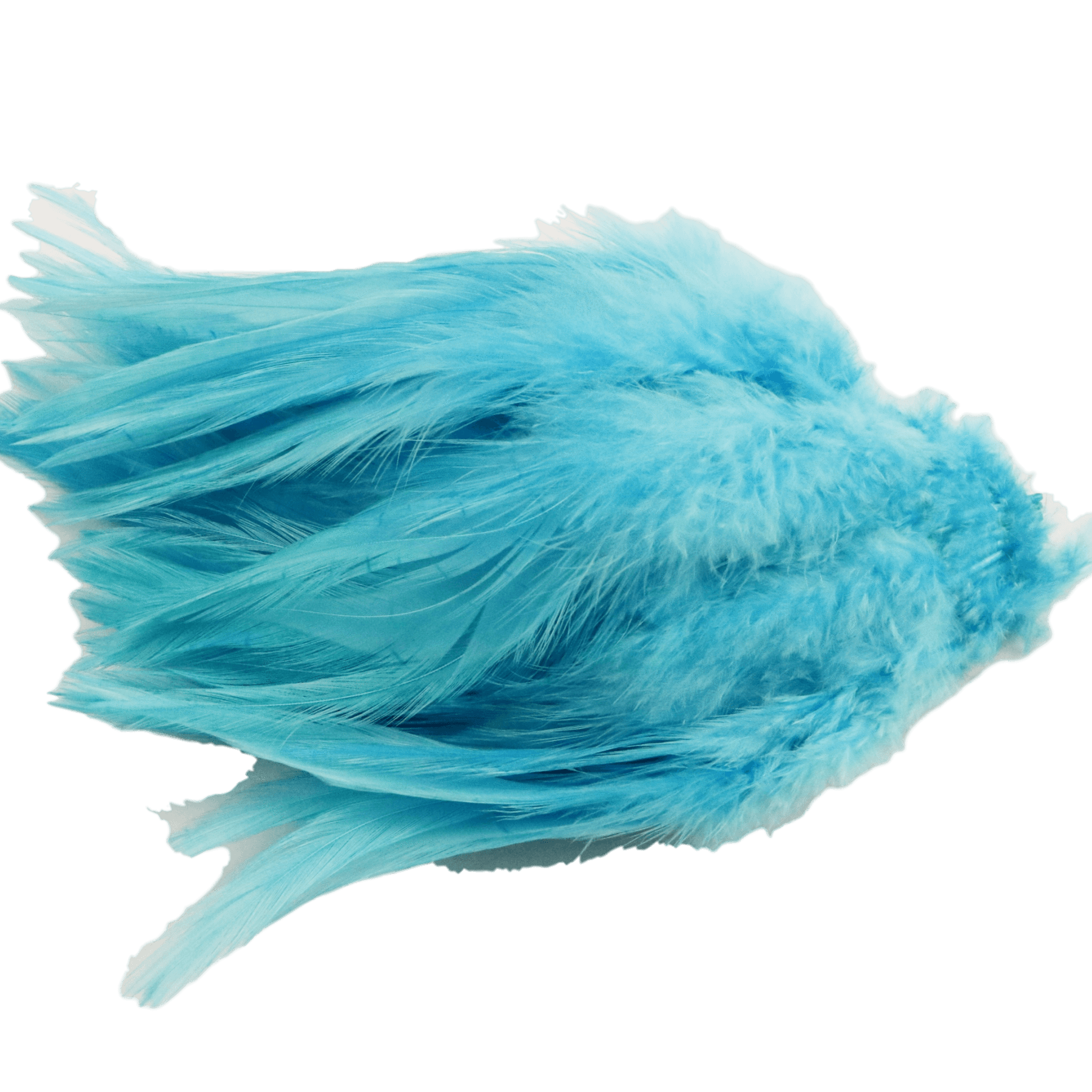 Dyed over White Strung Chinese Saddle Hackle