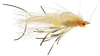A crab/shrimp imitation flats fly, Tan & Black
