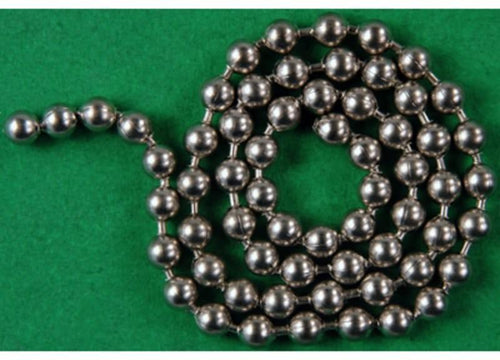Bead Chain Eyes Large (Silver - #344)