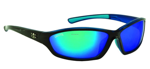 Calcutta Backspray (Shiny Black Frame/Blue Mirror Lens)