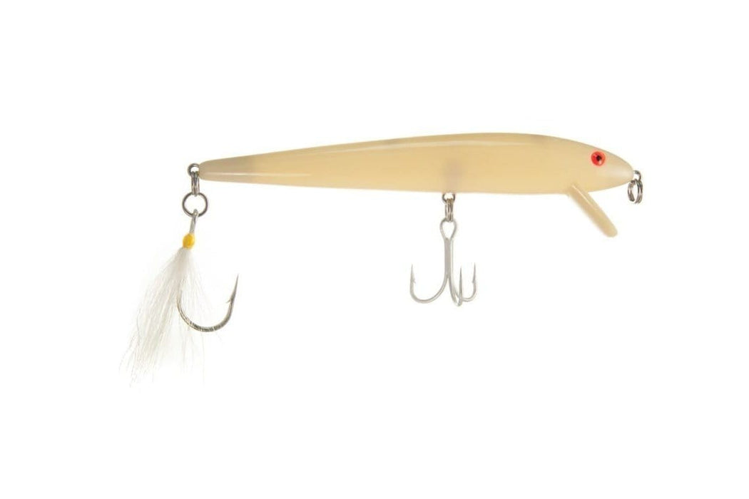 "Cotton Cordell Loaded 7"" Red Fin Swimmer Bone"