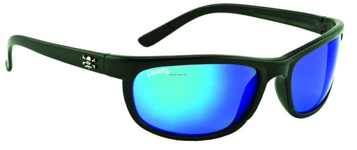 Calcutta Rockpile Sunglasses (Matte Black Frame/Blue Mirror)
