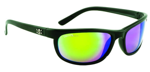 Calcutta Rockpile Sunglasses (Matte Black Frame/Green Mirror)