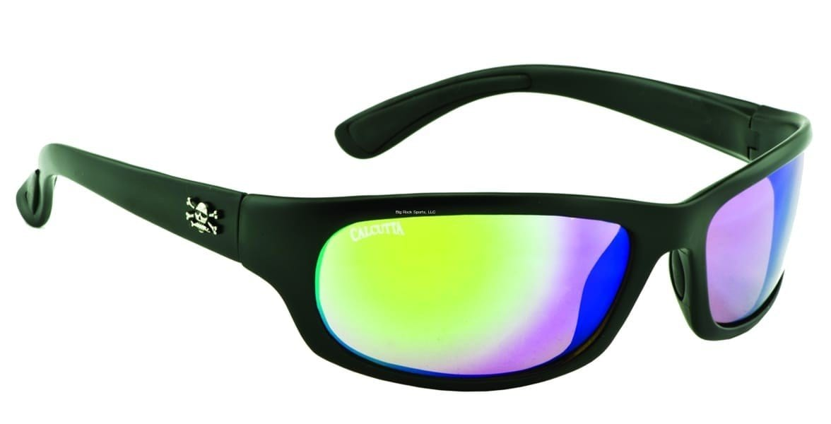 Calcutta Steelhead Sunglass (Matte Black Frame/Green Mirror Lens)