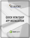 Quick View/Shop App Installation