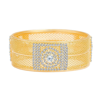 Sukkhi Graceful Gold Plated AD Kada For Women-1