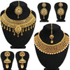 Sukkhi Sparkling Gold Plated LCT Necklace Set Combo For Women