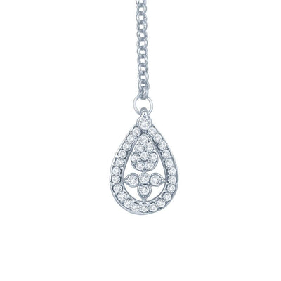 Sukkhi Luxurious Rhodium Plated Australian Diamond Stone Studded Necklace Set-3
