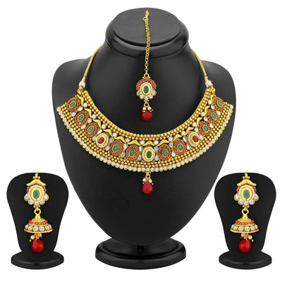 Sukkhi Classy Gold Plated Antique Choker Set