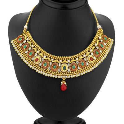 Sukkhi Classy Gold Plated Antique Choker Set-1