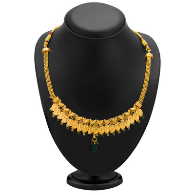 Sukkhi Fashionable Gold Plated Temple Jewellery Necklace Set for Women-1